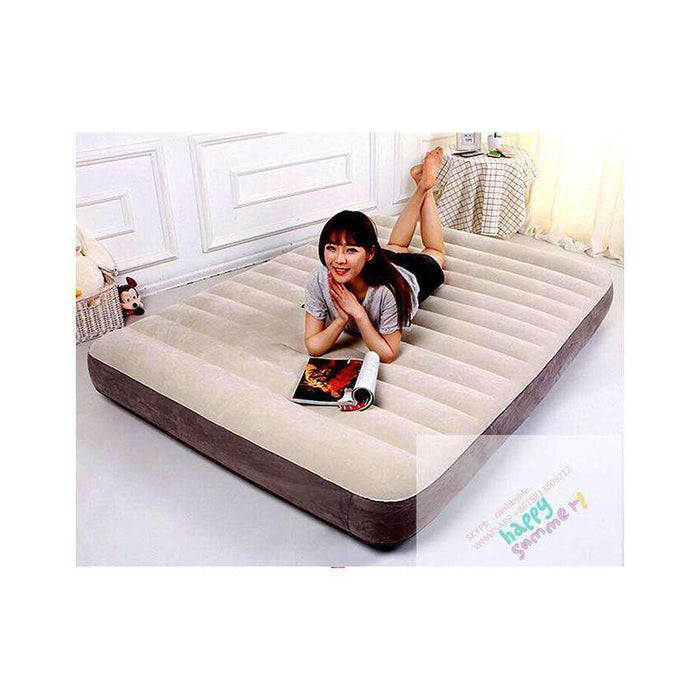 Newest Intex 64703 Queen Airbed Dura Beam Inflatable Single High