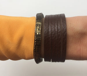 MAYA Bracelet - Chocolate Brown - €25,00