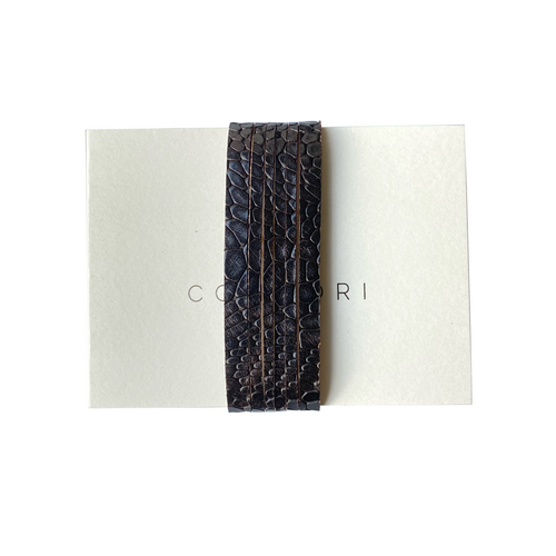 MAYA Bracelet - Snake Dark Brown - €25,00