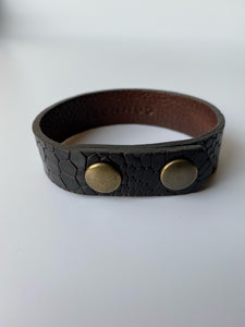 BALI Bracelet - Snake Dark Brown - €25,00
