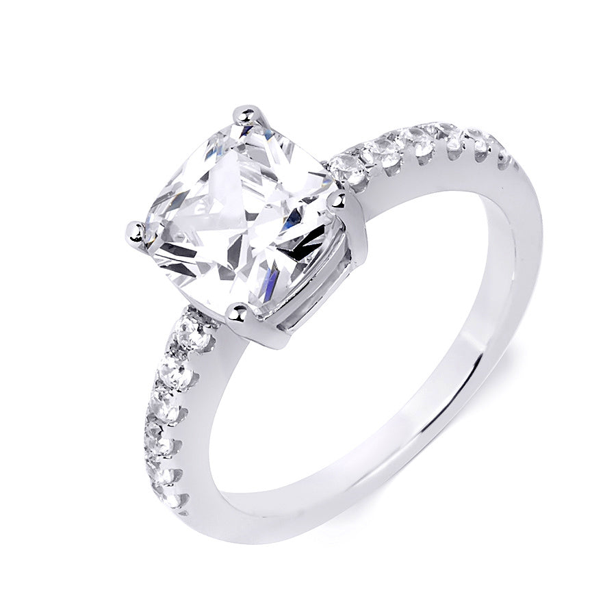 Womens 1.0 Carat Wedding BAND Anniversary RING Set Sterling Silver Size 5-9