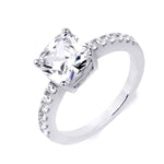 3.1 Carat Womens Engagement Ring Cushion Cut Sterling Silver