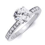 1.00 CT Solid Sterling Silver Round Cut Engagement Ring