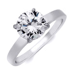 2.00 CT Sterling Silver CZ Brilliant Solitaire Wedding Ring