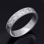 Men's Vintage Anniversary Wedding Band Ring Solid Sterling Silver 5mm