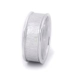 Men's Textured Barrel Ring Wedding Band Genuine Solid Sterling Silver