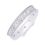 0.25 Carat CZ Mens Unisex Sterling Silver Wedding Band Ring Size 5-12