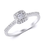 0.25 CT Carat Diamond Engagement RING Princess Cut 10k White Gold