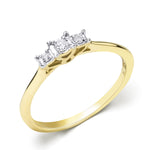 Women's Diamond Engagement RING 10k Yellow Gold 0.10 CT Size 5-11