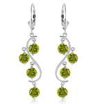 4.95 Carat 14K Solid White Gold Isabel Archer Peridot Earrings