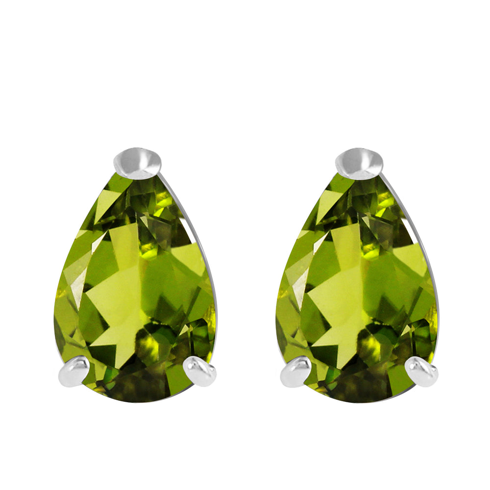 3 Carat 14K Solid White Gold Sweet Charmer Peridot Earrings