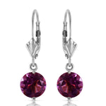 3.1 Carat 14K Solid White Gold Gifted Amethyst Earrings