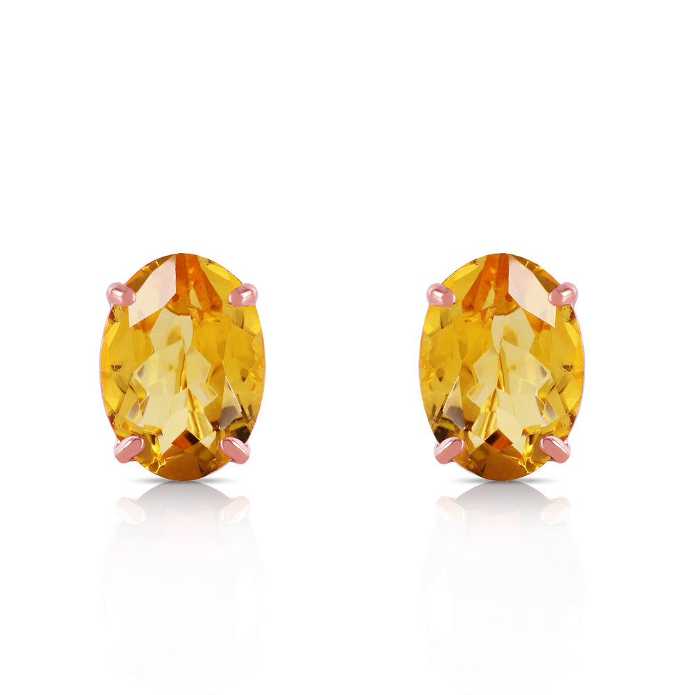 1.8 Carat 14K Solid Rose Gold Panache Citrine Stud Earrings