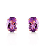 1.8 Carat 14K Solid Rose Gold Panache Amethyst Stud Earrings