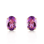 1.8 CTW 14K Solid Gold To Immortality Amethyst Earrings