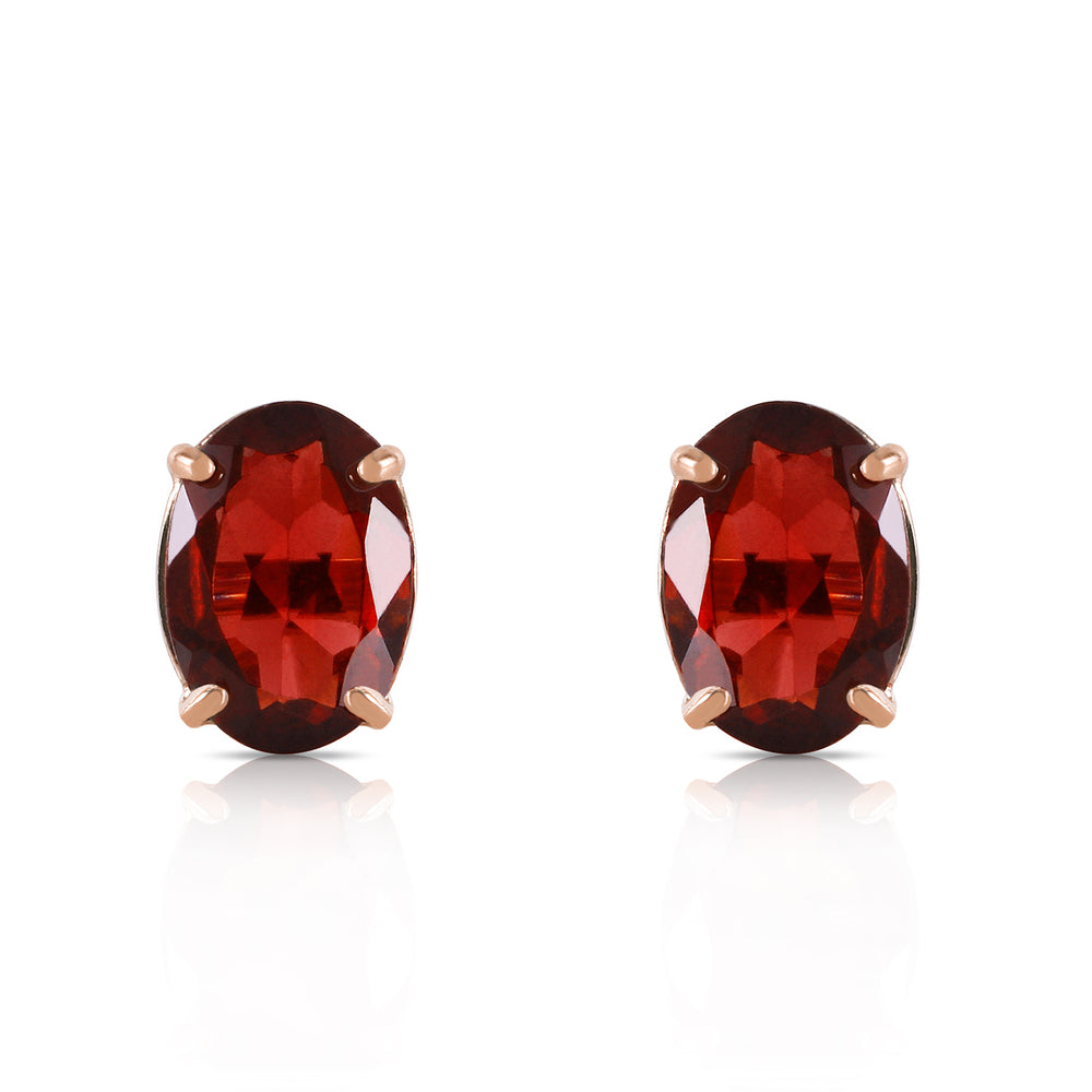 1.8 CTW 14K Solid Gold Dream Big Garnet Earrings