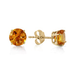 0.95 Carat 14K Solid Gold Somebody To Love Citrine Earrings