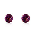 0.95 Carat 14K Solid Rose Gold Petite Amethyst Stud Earrings