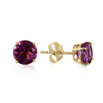 0.95 CTW 14K Solid Gold Sublime Target Amethyst Earrings