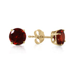 0.95 CTW 14K Solid Gold Two Worlds Garnet Earrings
