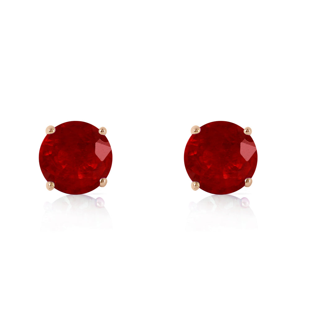 0.95 CTW 14K Solid Gold Fiercely We Believed Ruby Earrings