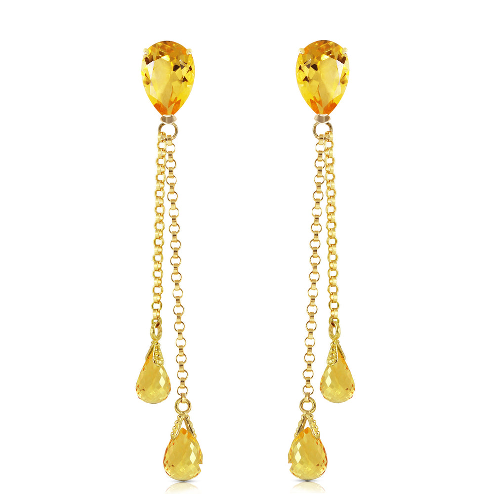 7.5 Carat 14K Solid Gold Eloquence Citrine Earrings