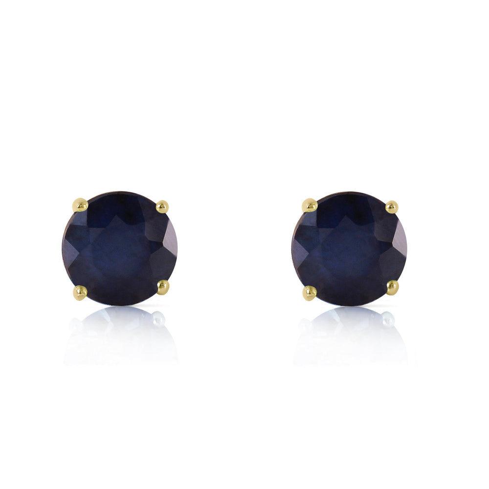 0.95 Carat 14K Solid Gold Don't Bargain Love Sapphire Earrings