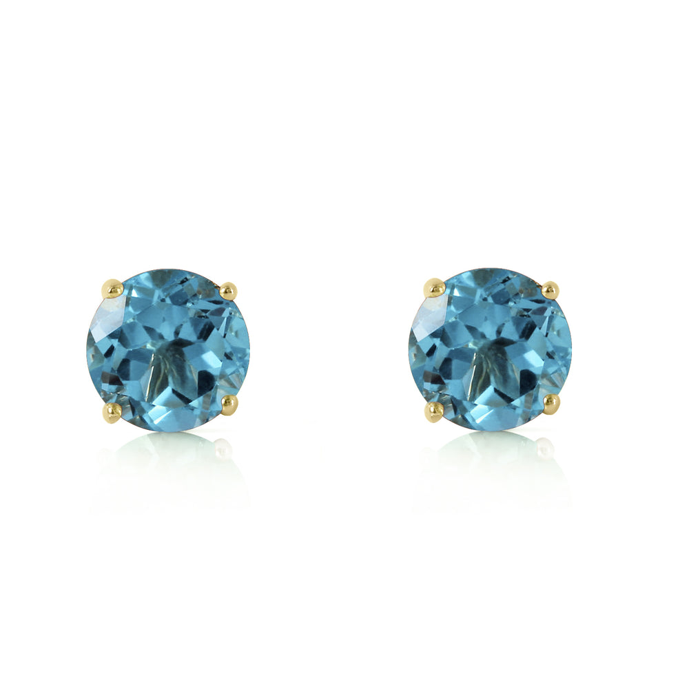 0.95 CTW 14K Solid Gold Honored Guest Blue Topaz Earrings