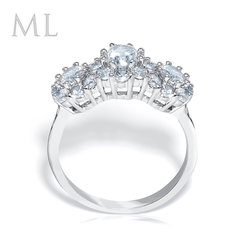 1.25 CT Brilliant ROUND CUT Wedding Promise RING Bridal Jewelry Size 6-9