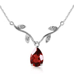 1.52 Carat 14K Solid White Gold Possibly Near Garnet Diamond Necklace
