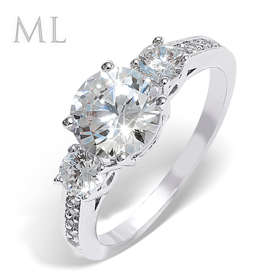 2.50 CT Women's Brilliant ROUND CUT Engagement Promise RING Gold Plated Size 6-9