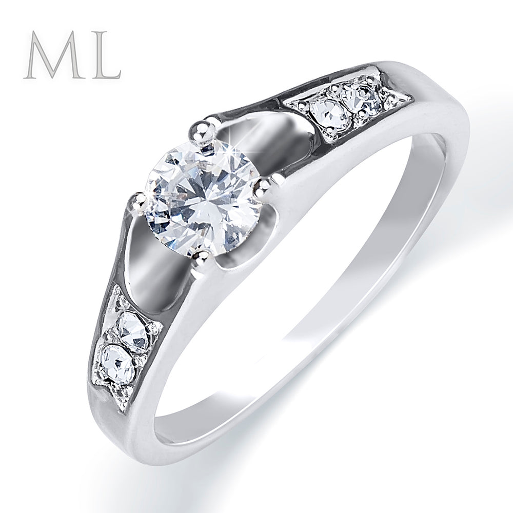Women's Engagement RING 0.50 Carat ROUND CUT White Gold Plated SIZE 5-9