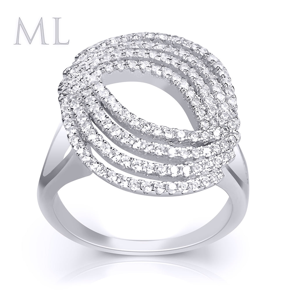 1.0 CT Wedding Bridal RING Brilliant ROUND CUT White Gold Plated SIZE 5-9