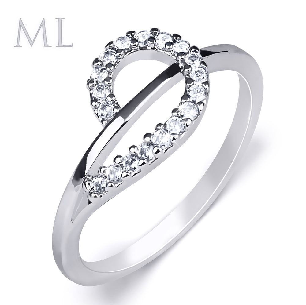 0.40 Carat CT Wedding BAND Engagement Promise RING White Gold Plated SIZE 5-9