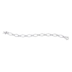 14kt White Gold Womens Round Diamond Tennis Link Bracelet 2-1/3 Cttw
