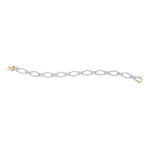 14kt Yellow Gold Womens Round Diamond Tennis Link Bracelet 2-1/3 Cttw
