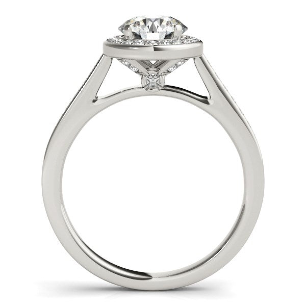 14k White Gold Halo Round Diamond Engagement Ring (1 1/4 cttw)