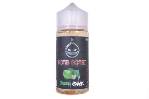 Bomb Bombz Green Crack | 100ml Sour Green Apple Candy E-Liquid