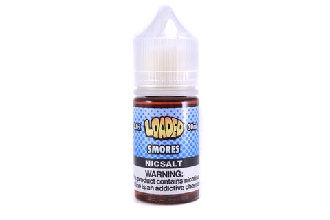 Loaded E-Liquid SALT Smores | 30mL Chocolate Marshmallow Graham Cracker SALT E-Liquid