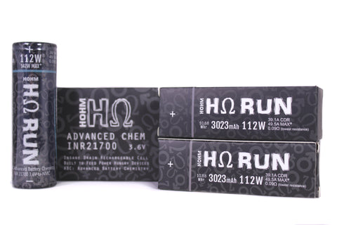 Hohm Tech | Hohm Run 21700 3023mAh 39.1A Battery