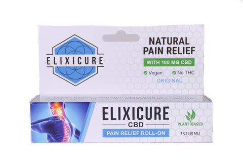 Elixicure CBD Pain-Relief Roll On | 1oz Original CBD roll on