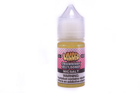 Loaded E-Liquid Strawberry Donut SALT NIC | 30mL Strawberry Filled Donut E-Liquid