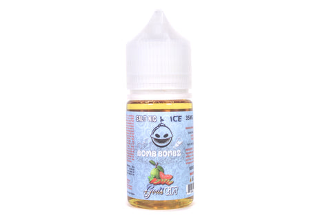 Bomb Bombz ICE God's Gift SALT NIC | 30ml Ice Strawberry Guava Kiwi Salt Nic