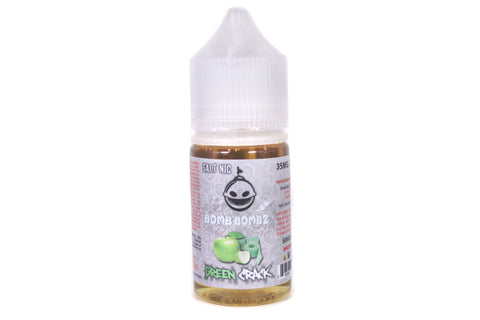 Bomb Bombz E-Liquid SALT Green Crack | 30ml Green Apple Sour Belt SALT NIC