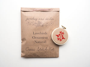 Lovebirds Ornament Kit, Natural