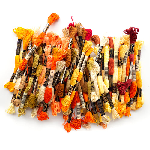 Embroidery Floss - Orange/Yellow