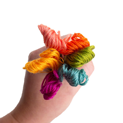 Embroidery Floss Mixed Bundle - Warm Tones