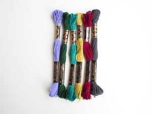 Embroidery Floss Mixed Bundle - Cool Tones