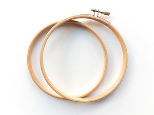 Round Wood Embroidery Hoops