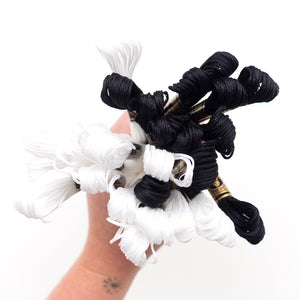 Embroidery Floss - Black and White